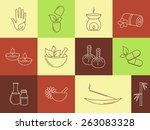 set of linear icons for spa ... | Shutterstock .eps vector #263083328
