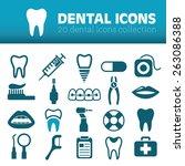 dental icons | Shutterstock .eps vector #263086388