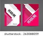 vector flyer design template... | Shutterstock .eps vector #263088059