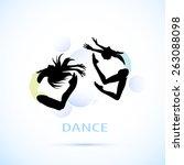 female silhouettes dancing logo | Shutterstock .eps vector #263088098