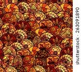 hand drawn ethnic seamless...   Shutterstock .eps vector #263091890