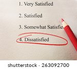 dissatisfied survey with red... | Shutterstock . vector #263092700