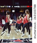 Small photo of PHILADELPHIA - MARCH 18: The Temple Diamond Gems dance team performs during the NIT first round basketball game March 18, 2015 in Philadelphia.