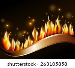 burn flame fire vector... | Shutterstock .eps vector #263105858