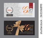 voucher template with premium... | Shutterstock .eps vector #263106890