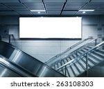 blank horizontal big poster in... | Shutterstock . vector #263108303