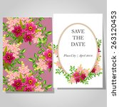 wedding invitation cards with... | Shutterstock .eps vector #263120453