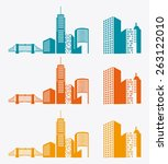 city design over white... | Shutterstock .eps vector #263122010
