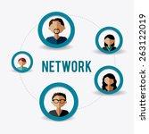 network design over white... | Shutterstock .eps vector #263122019