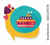 transportation ferry flat icon... | Shutterstock .eps vector #263124578