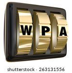 Wpa Letters On Gold Lock Dials...