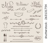 vector set of vintage design...   Shutterstock .eps vector #263131754