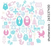 baby icons set | Shutterstock .eps vector #263137430