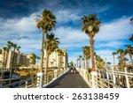 Walkway to the pier, in Oceanside, California.