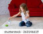 a little gentle child on a... | Shutterstock . vector #263146619