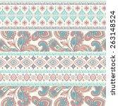tribal vintage ethnic seamless...   Shutterstock .eps vector #263148524
