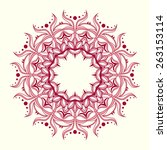 round decorative pattern in... | Shutterstock .eps vector #263153114