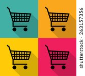 shopping cart icons set great... | Shutterstock .eps vector #263157356