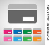 credit card icons set great for ... | Shutterstock .eps vector #263157359