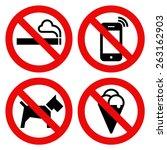 no smoking  no cell phone  no... | Shutterstock .eps vector #263162903