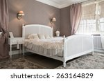 view of comfy bedroom inside a... | Shutterstock . vector #263164829
