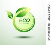 eco green global labels concept ... | Shutterstock .eps vector #263165480