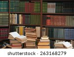 old books in the library | Shutterstock . vector #263168279