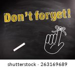 conceptual don't forget text in ... | Shutterstock . vector #263169689