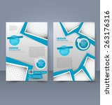 flyer template. business... | Shutterstock .eps vector #263176316