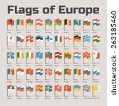 flags of europe. vector flat... | Shutterstock .eps vector #263185460