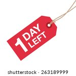 one day left to go sign | Shutterstock .eps vector #263189999