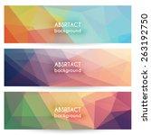 abstract geometric polygonal... | Shutterstock .eps vector #263192750
