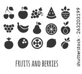 vector icon set with other... | Shutterstock .eps vector #263203199