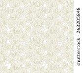 retro floral seamless pattern | Shutterstock .eps vector #263205848