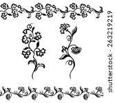 floral border pattern ...   Shutterstock .eps vector #263219219