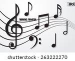 music notes | Shutterstock .eps vector #263222270