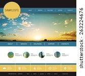 website design template for... | Shutterstock .eps vector #263224676