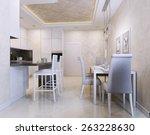 kitchen avangard style. 3d... | Shutterstock . vector #263228630