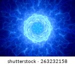 blue glowing plasma torus in... | Shutterstock . vector #263232158