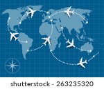 picture of world map with... | Shutterstock .eps vector #263235320
