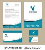 template corporate style. mock... | Shutterstock .eps vector #263246120