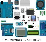 electronic components for...   Shutterstock .eps vector #263248898