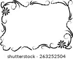 vector drawing flowers with... | Shutterstock .eps vector #263252504