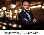 sharp dressed dandy fashionista ... | Shutterstock . vector #263259824