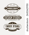set of retro vector design... | Shutterstock .eps vector #263262950