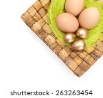 Brown And Golden Easter Eggs...