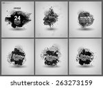 set poster grunge background... | Shutterstock .eps vector #263273159