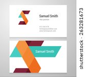 modern letter s business card... | Shutterstock .eps vector #263281673
