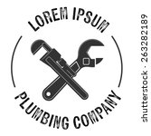 plumbing service logos and... | Shutterstock .eps vector #263282189