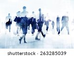 commuter business people... | Shutterstock . vector #263285039